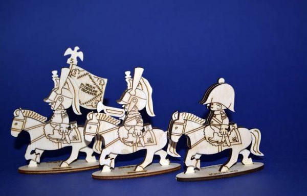 Кирасиры. Полковник, знаменосец, горнист. Франция, 1812 г.